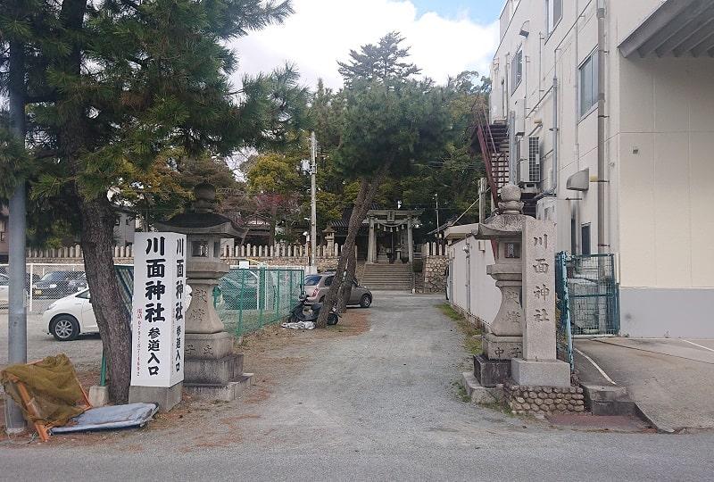川面神社の参道入口