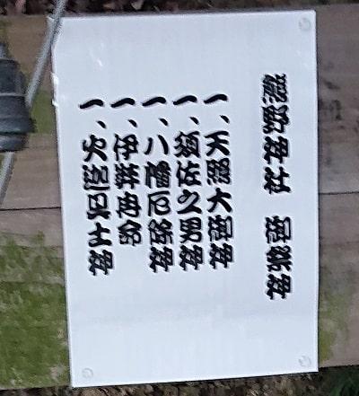 熊野神社の御祭神