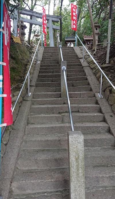 熊野神社の石段