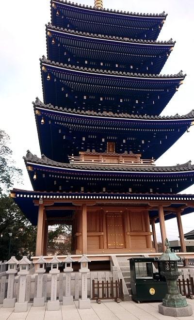 中山寺の五重塔