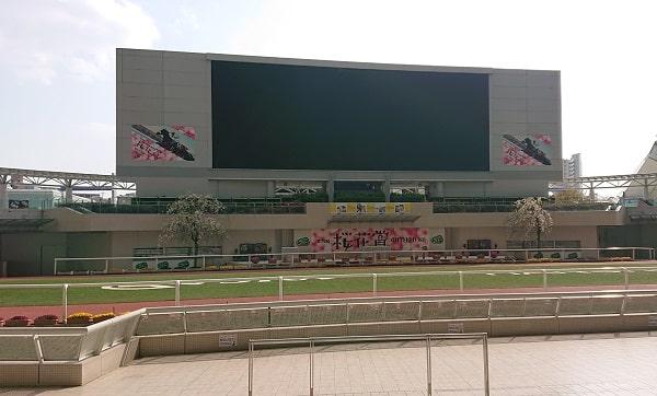 阪神競馬場のスクリーン