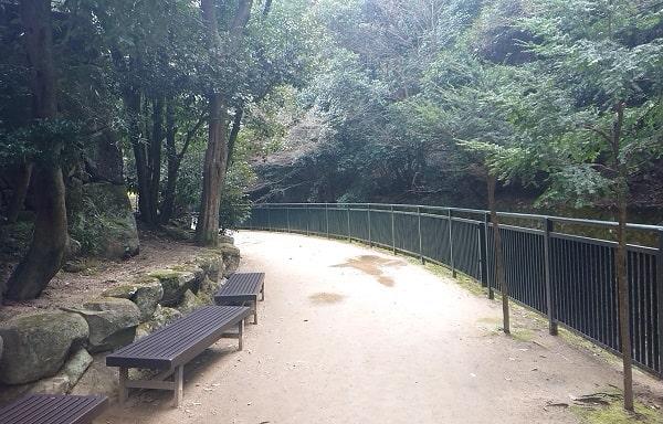 清荒神の竜王滝への道