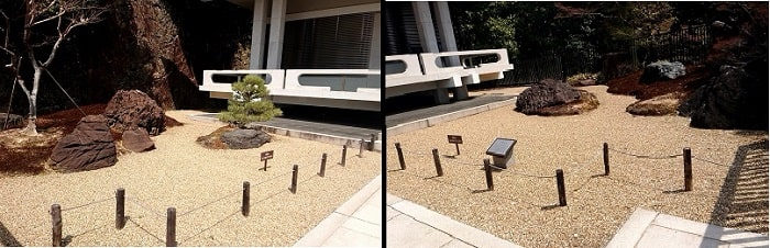 鉄斎美術館の庭