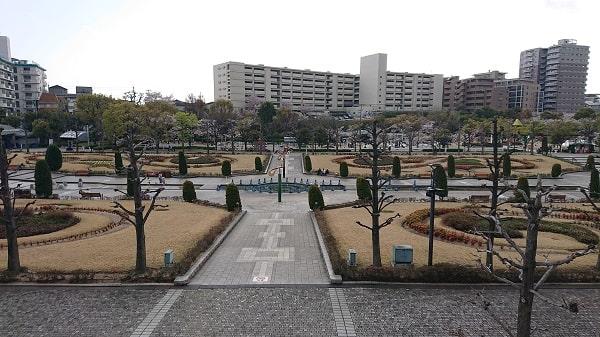 阪神競馬場の全体写真