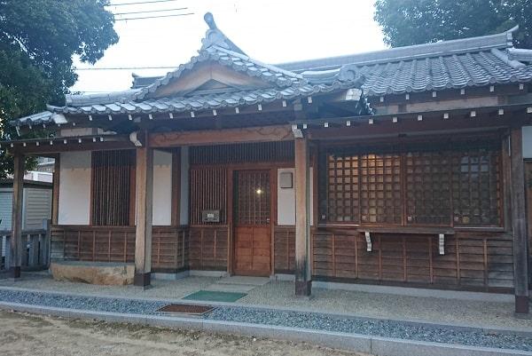 中筋八幡神社の社務所