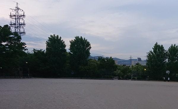 下の池公園のグラウンド