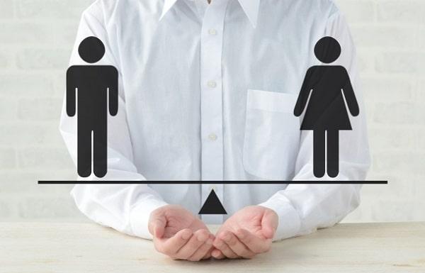 男性と女性の割合
