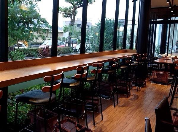 グリーンベリーズコーヒーの店内