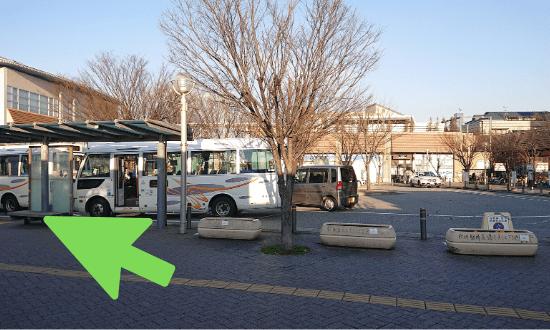 仁川駅のロータリー
